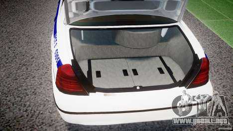 Ford Crown Victoria NYPD [ELS] para GTA 4 vista interior