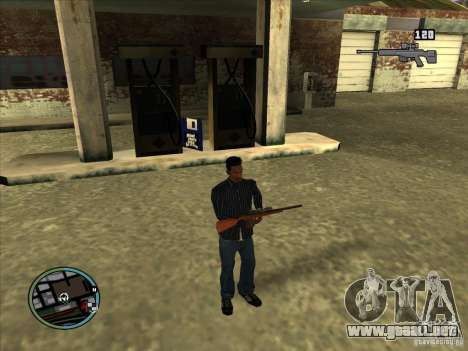 SA IV WEAPON SCROLL 2.0 para GTA San Andreas sucesivamente de pantalla