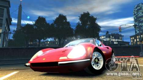 Ferrari Dino 246 GTS para GTA 4 visión correcta