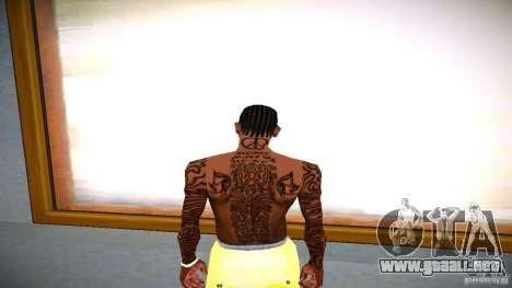 Tres nuevo tatuaje para GTA San Andreas tercera pantalla