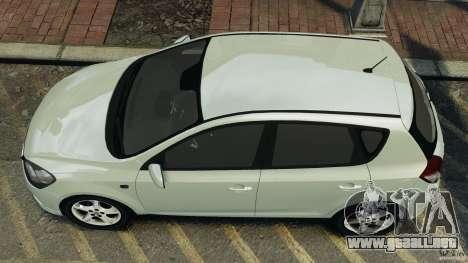 Kia Ceed 2011 para GTA 4 visión correcta