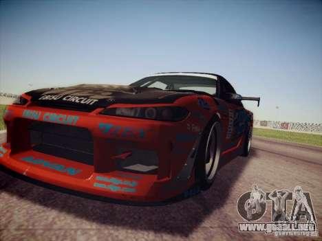 Nissan Silvia S15 Drift para la visión correcta GTA San Andreas
