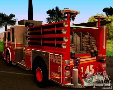 Pumper Seagrave Marauder F.D.N.Y para la visión correcta GTA San Andreas