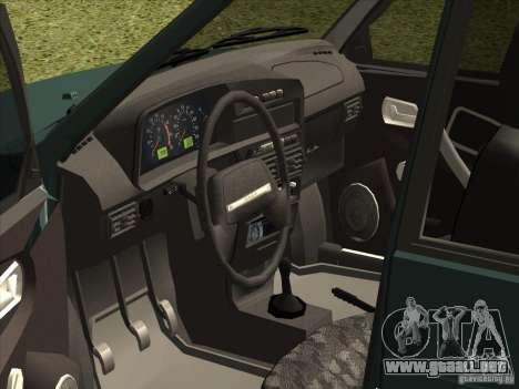 VAZ 2109 Final para la visión correcta GTA San Andreas
