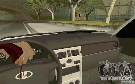 Lada Priora DPS para GTA San Andreas vista posterior izquierda