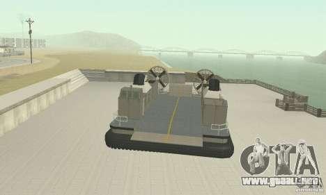 Landing Craft Air Cushion para la visión correcta GTA San Andreas