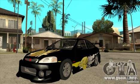 Honda Civic Tuning Tunable para GTA San Andreas left
