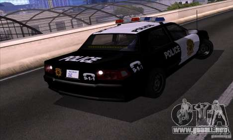 NFS Undercover Police Car para la visión correcta GTA San Andreas