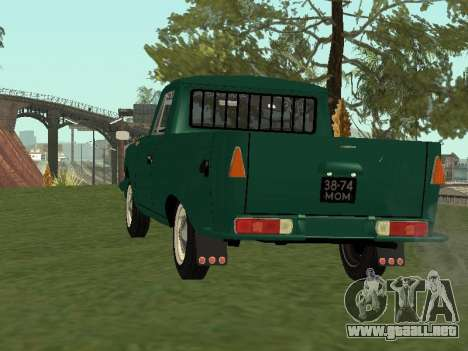 IZH 27151 PickUp para GTA San Andreas vista posterior izquierda