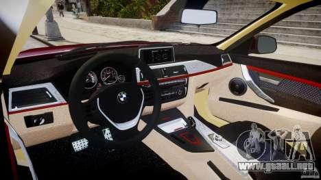 BMW 335i 2013 v1.0 para GTA 4 visión correcta