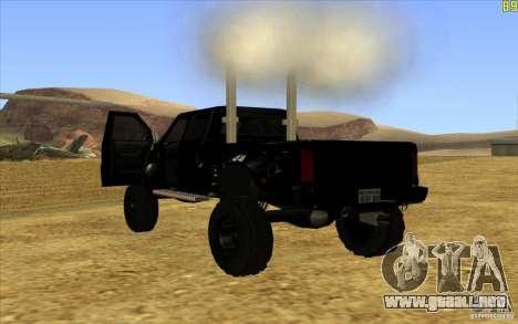 GMC Topkick Ironhide TF3 para GTA San Andreas vista posterior izquierda