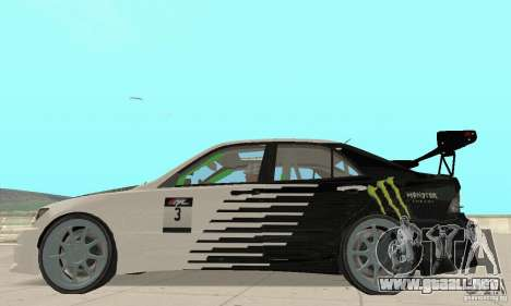 Lexus IS300 Drift Style para la visión correcta GTA San Andreas