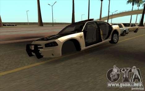 County Sheriffs Dept Dodge Charger para la visión correcta GTA San Andreas