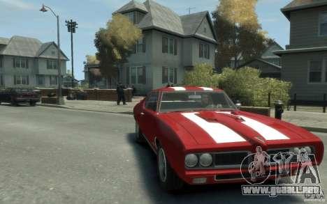 Pontiac GTO Hardtop 1968 v1 para GTA 4 vista hacia atrás