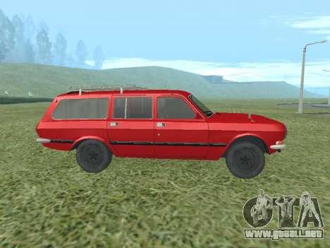 Volga GAZ-24 02 para GTA San Andreas vista posterior izquierda