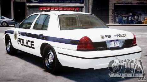 Ford Crown Victoria 2003 FBI Police V2.0 [ELS] para GTA 4 visión correcta