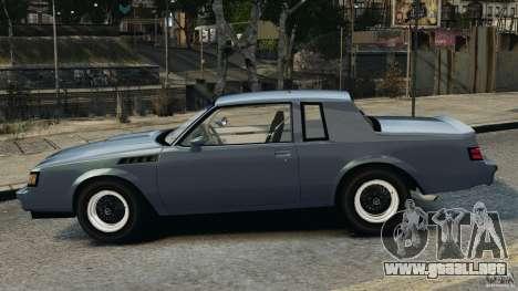 Buick GNX 1987 para GTA 4 left