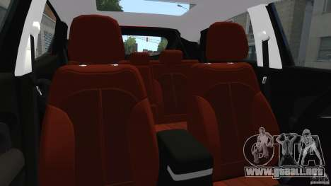 Hyundai Santa Fe Sport 2013 para GTA 4 vista interior