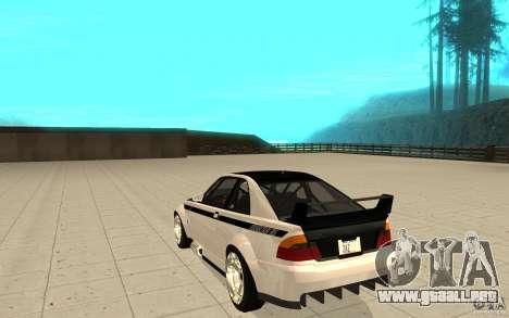 GTA IV Sultan RS FINAL para GTA San Andreas vista posterior izquierda
