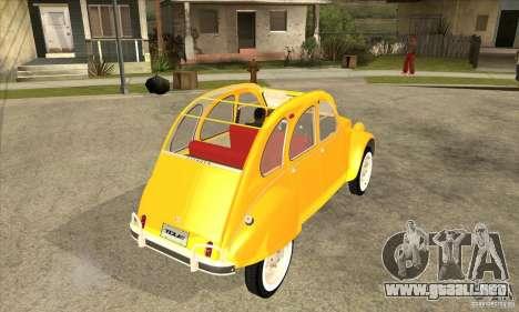 Citroen 2CV para la visión correcta GTA San Andreas