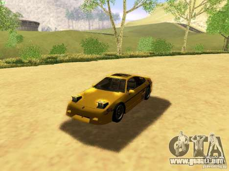Pontiac Fiero V8 para vista inferior GTA San Andreas
