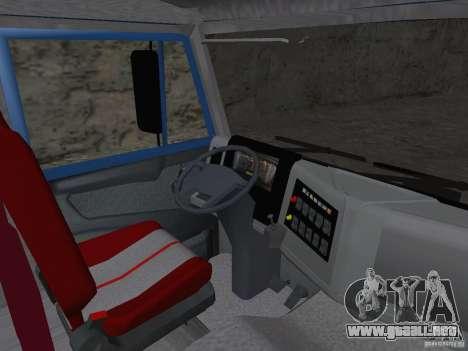 KAMAZ 65222 para GTA San Andreas vista hacia atrás
