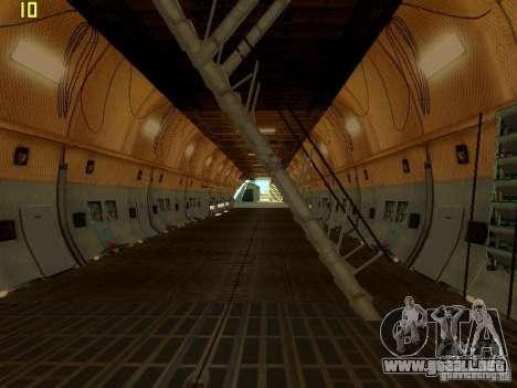 Lockheed C-5M Galaxy para la visión correcta GTA San Andreas
