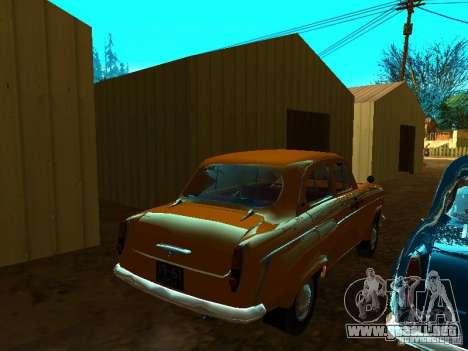 Taxi Moskvich 403 para GTA San Andreas vista posterior izquierda