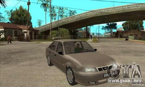 Daewoo Nexia Dohc 2009 para GTA San Andreas vista hacia atrás