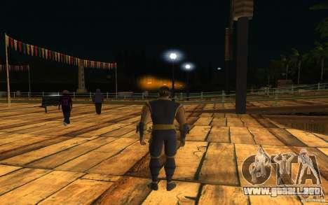 Cyrax de Mortal kombat 9 para GTA San Andreas segunda pantalla