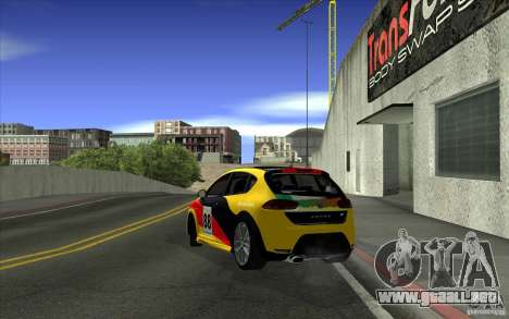 Seat Leon Cupra R para la vista superior GTA San Andreas