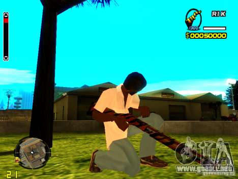 Tiger wepon pack para GTA San Andreas segunda pantalla