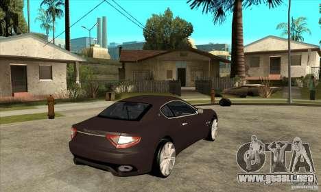 Maserati Gran Turismo para la visión correcta GTA San Andreas