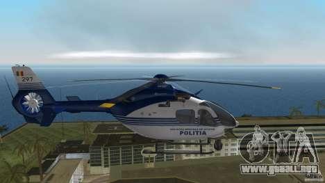 Eurocopter Ec-135 Politia Romana para GTA Vice City visión correcta