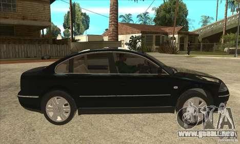 Volkswagen Passat B5+ para GTA San Andreas vista hacia atrás