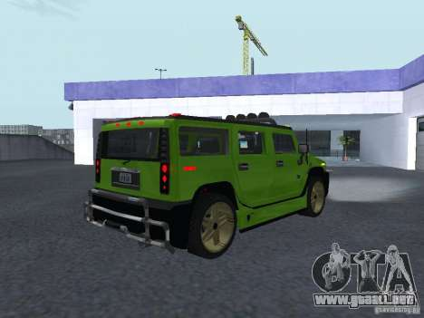 HUMMER H2 Tunable para la visión correcta GTA San Andreas