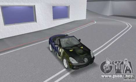 Mercedes-Benz SLK 350 para la vista superior GTA San Andreas