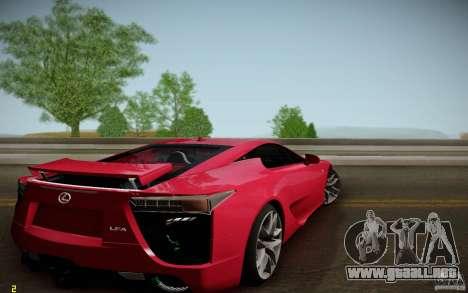 Lexus LFA para GTA San Andreas left