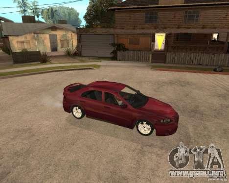 Mazda 6 Sport para GTA San Andreas vista hacia atrás
