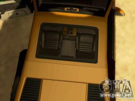 Pontiac Fiero V8 para vista lateral GTA San Andreas