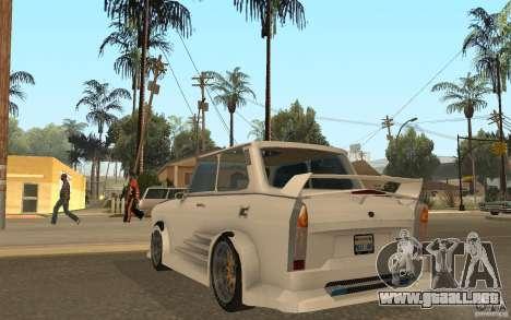 Trabant 601S Tuning para GTA San Andreas vista posterior izquierda