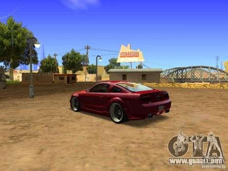 Ford Mustang GT 2005 Tuned para la visión correcta GTA San Andreas