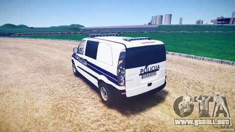Mercedes Benz Viano Croatian police [ELS] para GTA 4 Vista posterior izquierda