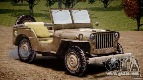 Jeep Willys [Final] para GTA 4 vista interior