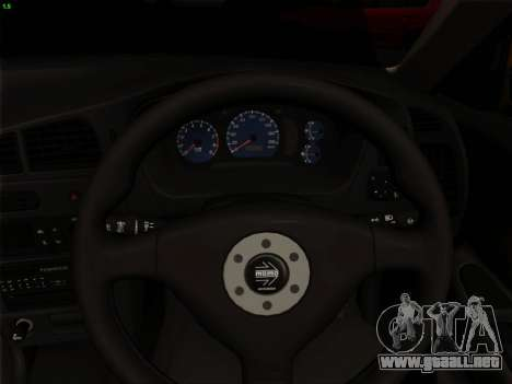 Mitsubishi Lancer Evolution VI para GTA San Andreas interior