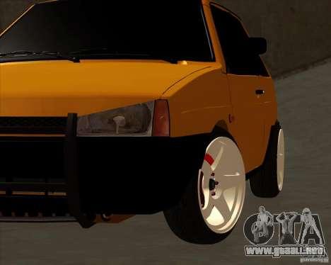 VAZ 2108 (versión con discos blancos) para la visión correcta GTA San Andreas