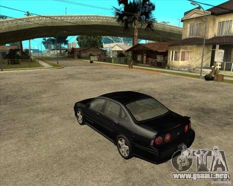 2003 Chevrolet Impala SS para GTA San Andreas left