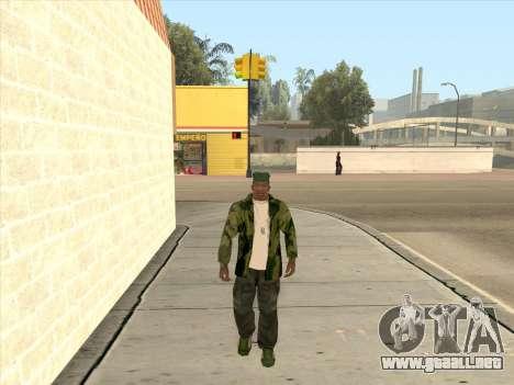 Chaqueta de camuflaje para GTA San Andreas sucesivamente de pantalla