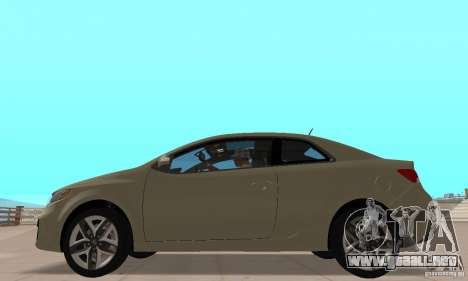 Kia Forte Koup 2010 para GTA San Andreas vista posterior izquierda
