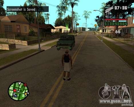 Ayuda bratkov para GTA San Andreas segunda pantalla